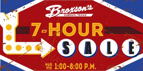 Broxson's 7-Hour Sale!, Sunray, Texas