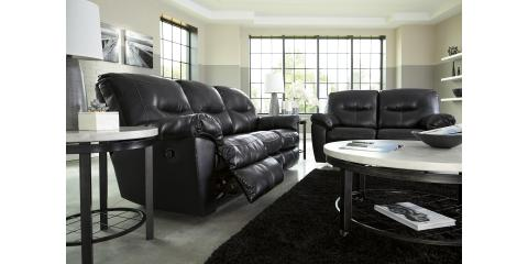 BLACK DURABLEND RECLINING SOFA & LOVESEAT BY ASHLEY-$1213, Maryland Heights, Missouri