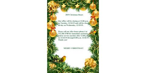 Our upcoming holiday hours are as follows..., Forked River, New Jersey