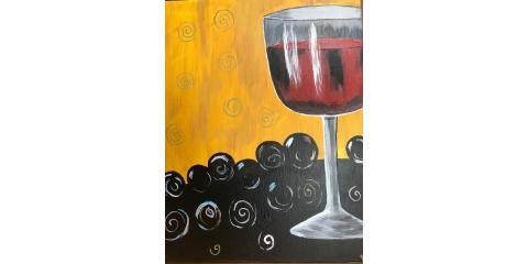 Wine Glass Paint Class, Maryland Heights, Missouri