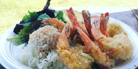 Stop by the Shrimp Truck for Delicious Plate Lunches, Waialua, Hawaii