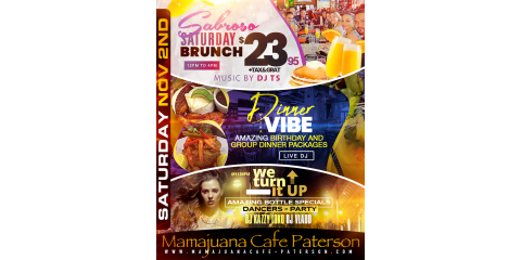 SABROSO SATURDAYS- NOV 2ND- MAMAJUANA CAFE PATERSON, Paterson, New Jersey