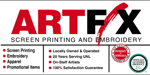 ARTFX Screen Printing & Embroidery, Screen Printing, Services, Lincoln, Nebraska