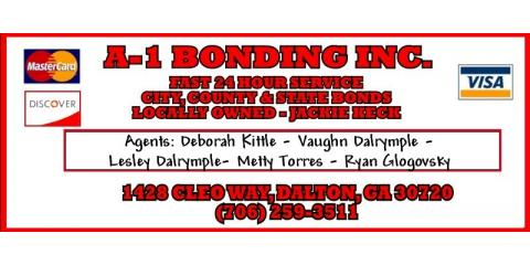 A-1 Bonding Inc, Bail Bonds, Services, Dalton, Georgia