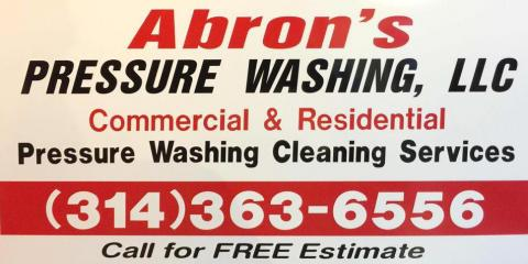 Abron's Pressure Washing LLC, Pressure Washing, Services, Lake Saint Louis, Missouri