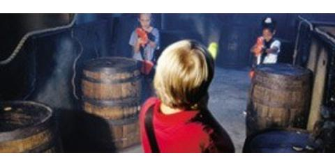 Battle Your Friends & Family at Adventure Landing Dallas' Laser Tag Arena, Plano, Texas