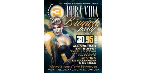 PURA VIDA BRUNCH PARTY- NOV 3- MAMAJUANA CAFE PATERSON, Paterson, New Jersey