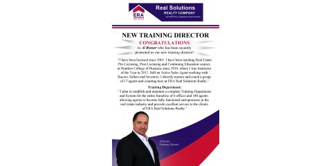 Al Rosser - ERA Real Solutions Realty Training Director, Montgomery, Ohio