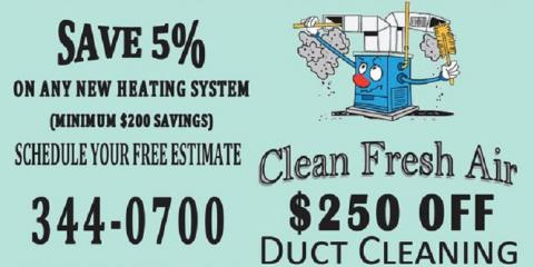 Get $250 Off Duct Cleaning With New Furnace Installation, Anchorage, Alaska