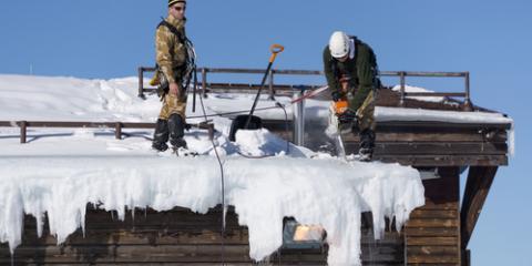 Roofing Contractors Explain Ice Dams, Anchorage, Alaska