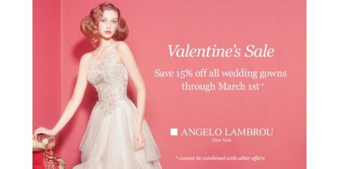 15 off angelo lambrou custom wedding gowns angelo for Custom made wedding dresses nyc