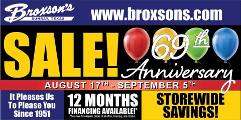 69th Anniversary Sale, Sunray, Texas