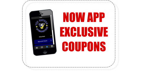 NEW APP FEATURE: Exclusive Coupons!, ,