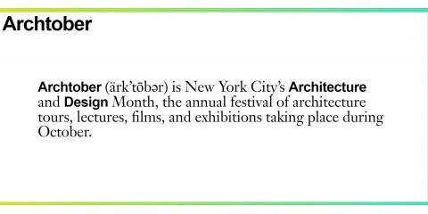 Gotham PR Prepares for Archtober, New York, New York