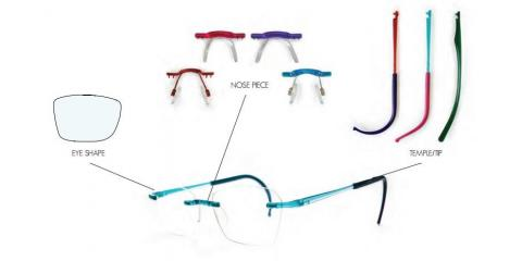 brand new rimless eyeglass styles from aspire la paire