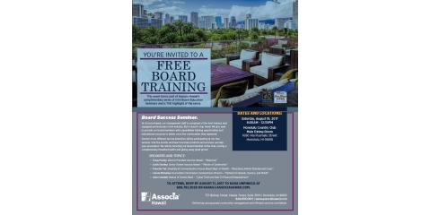 Calling All Association Board Members: Attend Associa Hawaii's Board Training Seminar, Honolulu, Hawaii