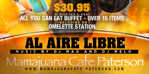PURA VIDA BRUNCH PARTY SUNDAY- AUGUST 18th- MAMAJUANA CAFE PATERSON, Paterson, New Jersey