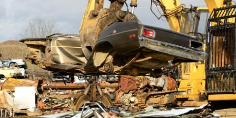 How Car Recycling Works at an Auto Salvage Yard, Philadelphia, Pennsylvania