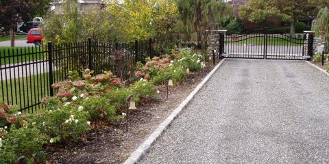 Aluminum Fence and Double Drive Estate Gate, Islip, New York