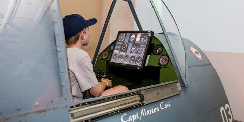 Pacific Aviation Museum Pearl Harbor's Combat Flight Simulators Educate & Excite, Ewa, Hawaii