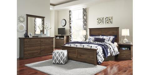 piece bedroom set burminson 877 mcguire furniture rental