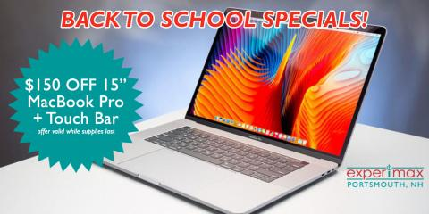 "$150 OFF 15"" MacBook Pro Touch Bar at Experimax Portsmouth!, Portsmouth, New Hampshire"
