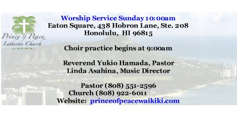 Prince of Peace Lutheran Church , Churches, Services, Honolulu, Hawaii