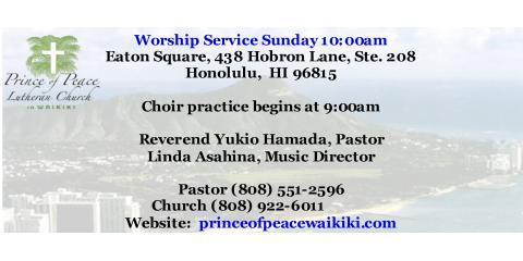 Virtual Worship and Holy Communion , Honolulu, Hawaii