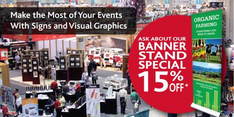 Get 15% Off Banner Stands From FASTSIGNS® of Northbrook, Northbrook, Illinois