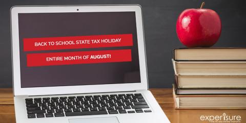 State Tax Holiday at Experimac, all month!, 6, Louisiana