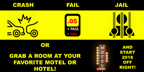BE SAFE THIS NEW YEAR'S EVE.  GET A MOTEL OR HOTEL ROOM AND USE UBER OR LIFT OR A TAXI.  HAPPY NEW YEAR!, Richmond Hill, Georgia