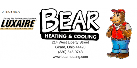 Bear Heating & Cooling, Inc., HVAC Services, Services, Girard, Ohio