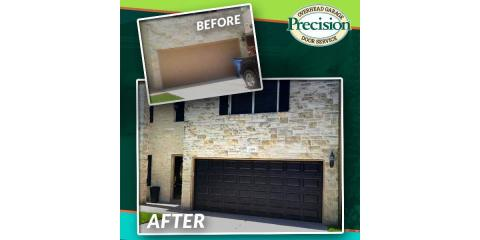Before and After, a garage door with MORE!, Dayton, Ohio