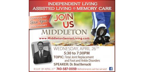 Middleton Lecture Series: Dr. Brad Bernacki, Granville, Ohio