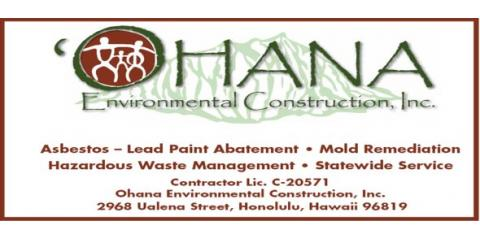 Ohana Environmental Construction, Inc., Construction, Services, Honolulu, Hawaii