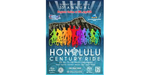 Ride Your Bike in the Honolulu Century Ride on September 25!, Honolulu, Hawaii