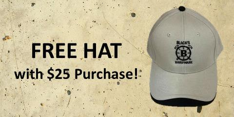 FREE Black's Hat with $25 Purchase, Irondequoit, New York