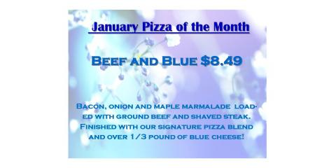 January Pizza of the Month, Luxemburg, Wisconsin