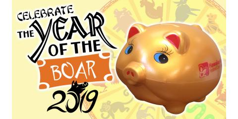 FREE Year of the Boar Bank, Honolulu, Hawaii