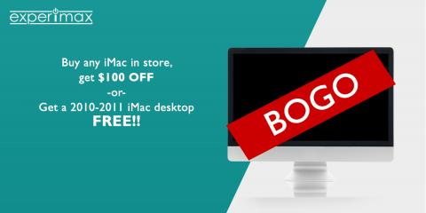Buy an iMac Desktop, Get a 10-11' Free! Or, Take $100 OFF!, Portsmouth, New Hampshire