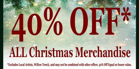 40% OFF Christmas Merchandise, Onalaska, Wisconsin