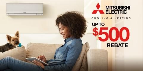 Save up to $500 on a Mitsubishi Electric System, Braintree Town, Massachusetts