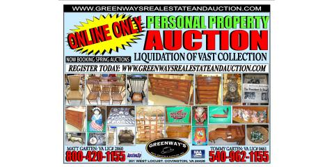 Online Auction ENDING TOMMORROW!!, Covington, Virginia