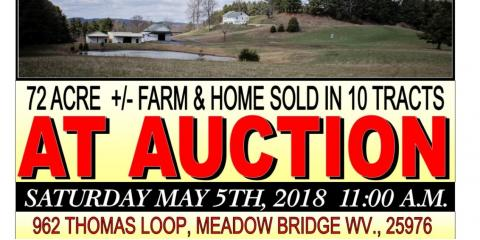 72 Acre Farm Sold in 10 Tracts, Covington, Virginia