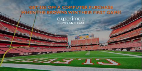 $50 OFF Computer Purchase If The Browns Win Their 1st Game!, Solon, Ohio