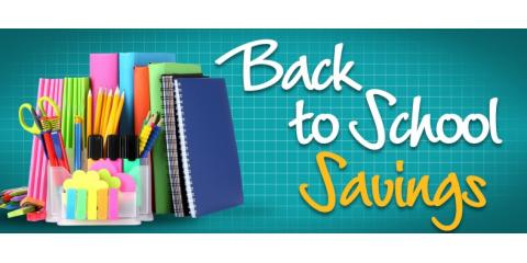 Featuring Our Back To School Savings-August 2016- $20.00, ,