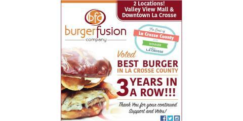 New Location Opens for La Crosse's Best Burger Company!, La Crosse, Wisconsin