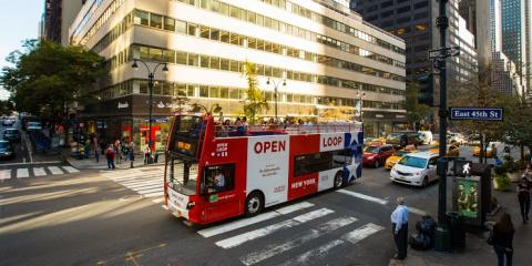 Hop On, Hop Off With OPEN LOOP New York, The City's Best Sightseeing Bus, Manhattan, New York