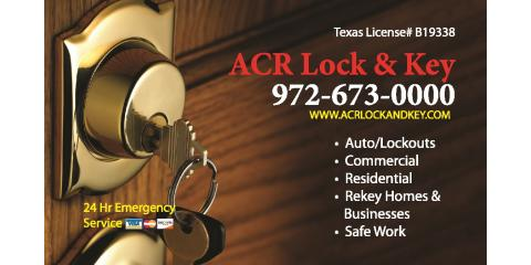 Locksmith Near Me | Car Keys | Door Locks | A.C.R Lock & Key 972-673-0000, Plano, Texas