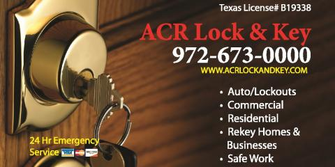 A.C.R. Lock & Key, Locksmith, Services, Plano, Texas